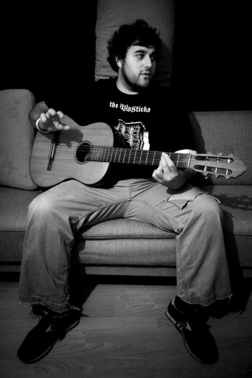 Ceschi and his guitar